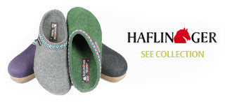 Haflinger slippers and clogs collection