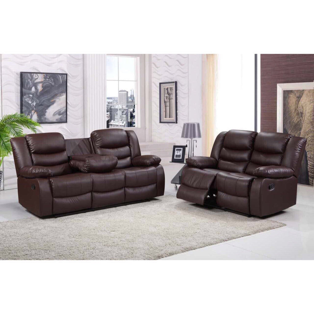 Roma 3 2 Seater Faux Leather Recliner Sofa Honey Pot Furniture Ltd