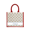 Blossom Tiles Large Jute Bag