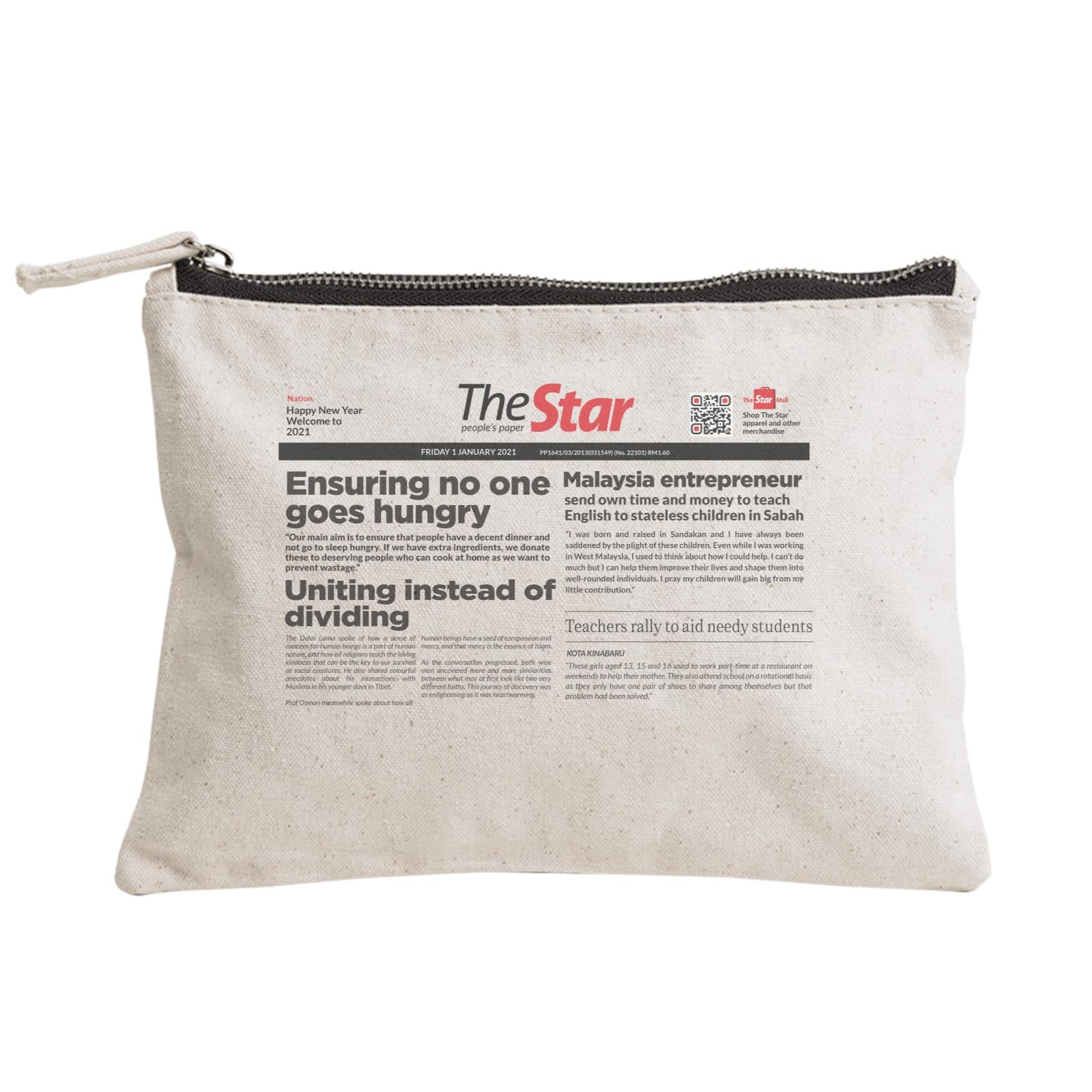 Headline Zipper Pouch