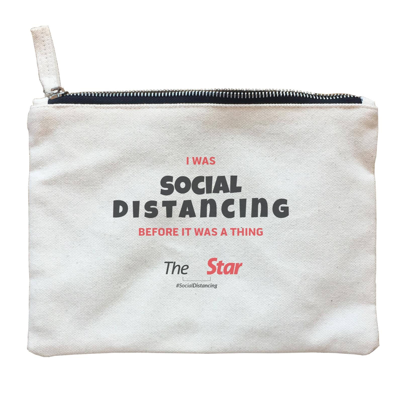 Social Distancing Zipper Pouch