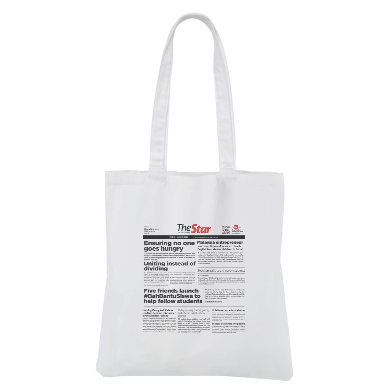 Headline Canvas Bag