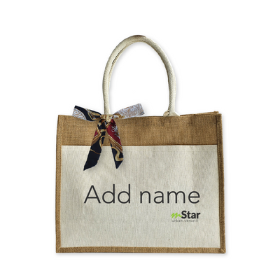 Versatil Jute Bag - Name