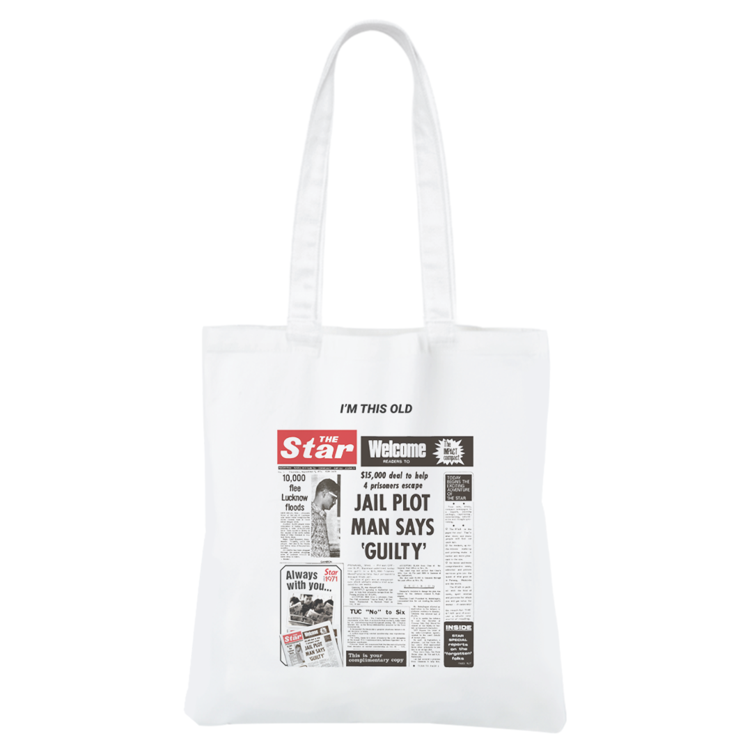 "STAR50 ""I'm This Old"" Canvas Bag"