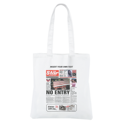 "STAR50 ""Insert Your Text Here"" Canvas Bag"
