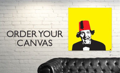 iconiComedy - a vibrant range of made to order canvasses celebrating classic British comedy icons