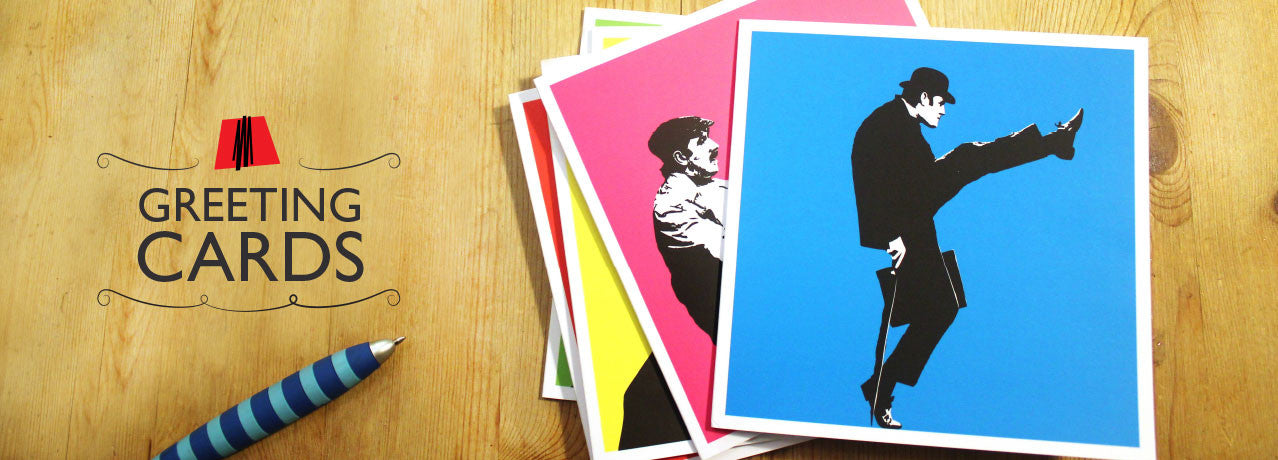 iconiComedy - a vibrant range of greeting cards celebrating classic British comedy icons