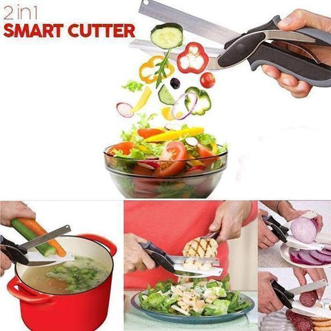 (LAST DAY PROMOTIONS- Save 50% OFF) 2 in 1 Smart Cutter- Buy 2 Get Free Shipping