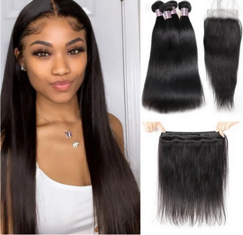 <<$20 OFF>>*Coupon Code : IS20* Only For This Straight/Loose Deep Wave 4 Bundles With Closure