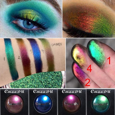 BUY 2 SET GET FREE UNICORN MAKE UP BRUSH-LIGHT CHANGING GLITTER EYE SHADOW