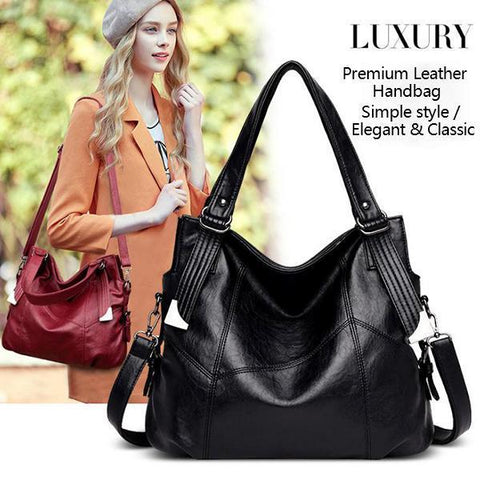 2019 new fashionable stitching large bag all-match messenger bag