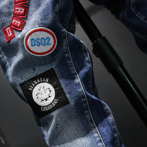 Exclusive Denim Patch Jeans