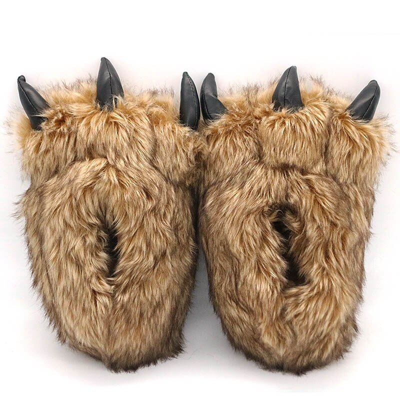 Scary Toes Wolf Slippers