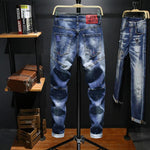Load image into Gallery viewer, Exclusive Denim Patch Jeans