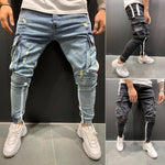 Load image into Gallery viewer, Trendy Jeans Slim Fit Jeans