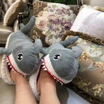 Load image into Gallery viewer, Cozy Friends Shark Slippers