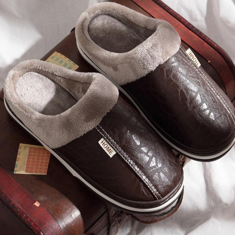 Deluxe Men Leather Slippers
