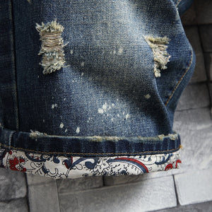 Street Denim Ripped Shorts
