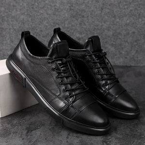 The Dapper Gentleman Low-Top Leather Sneakers