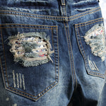 Load image into Gallery viewer, Street Denim Ripped Shorts