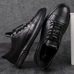 Load image into Gallery viewer, The Dapper Gentleman Low-Top Leather Sneakers