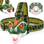 Load image into Gallery viewer, Jurassic Fun Dino Headlamp