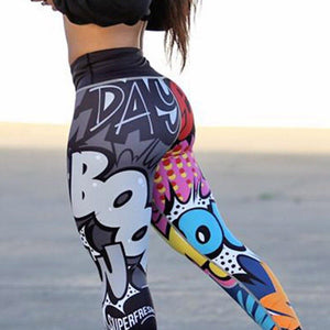 Girly Heroes Comic Leggings