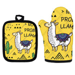 Load image into Gallery viewer, The Sassy Llama Oven Mitts