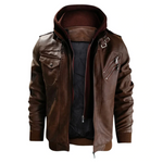 Load image into Gallery viewer, Dope Jackets Leather Hood Jacket