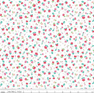 Dorothy's Journey Poppies - White - 1/2 Yard