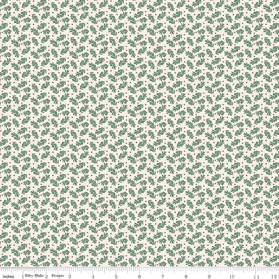 Christmas Traditions Sprigs - Cream - 1/2 Yard
