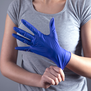 Monogram Blue Nitrile Gloves - Large - 1000 Pack