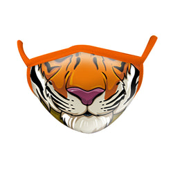 Wild Smiles Tiger Print Face Mask ADULT