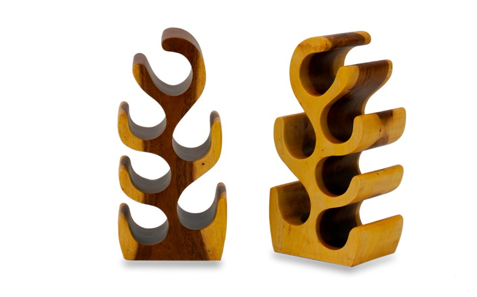 Suar Wood Wine Rack