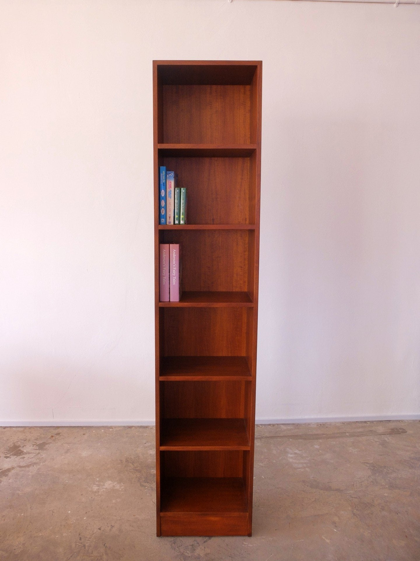 Teak Ply Open Bookcase