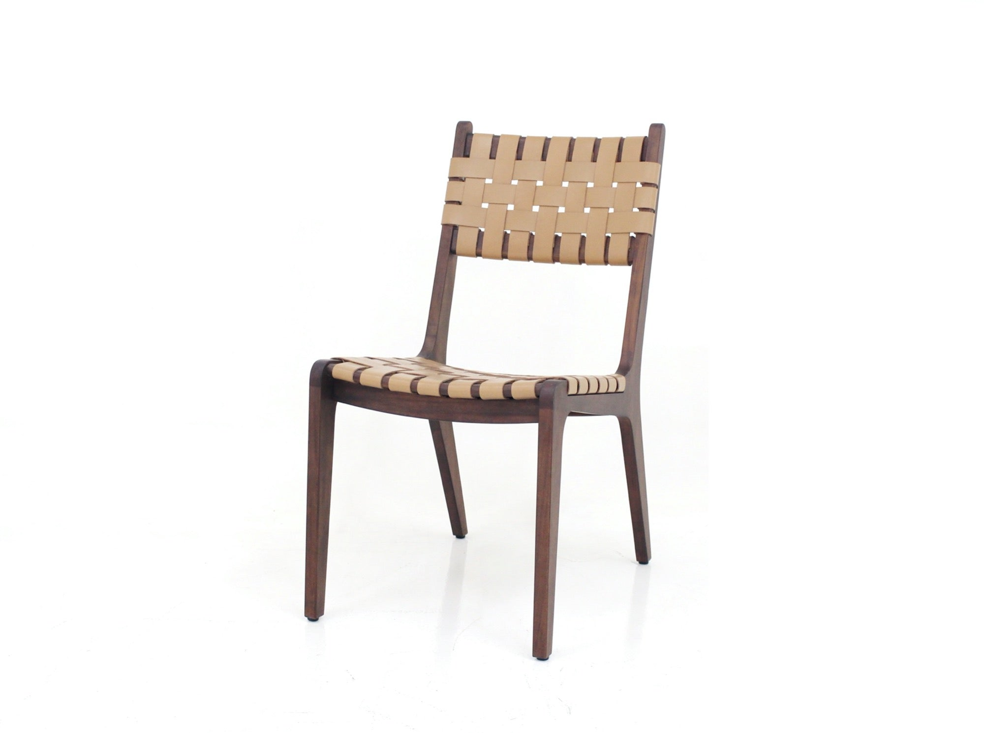 Tomo Leather Weave Dining Chair