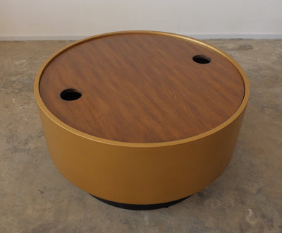Storage Cocktail Table with Gold Sides