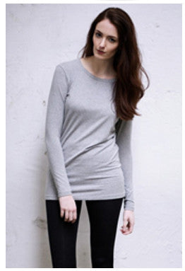 Black White Denim Grey Long Sleeve Tee