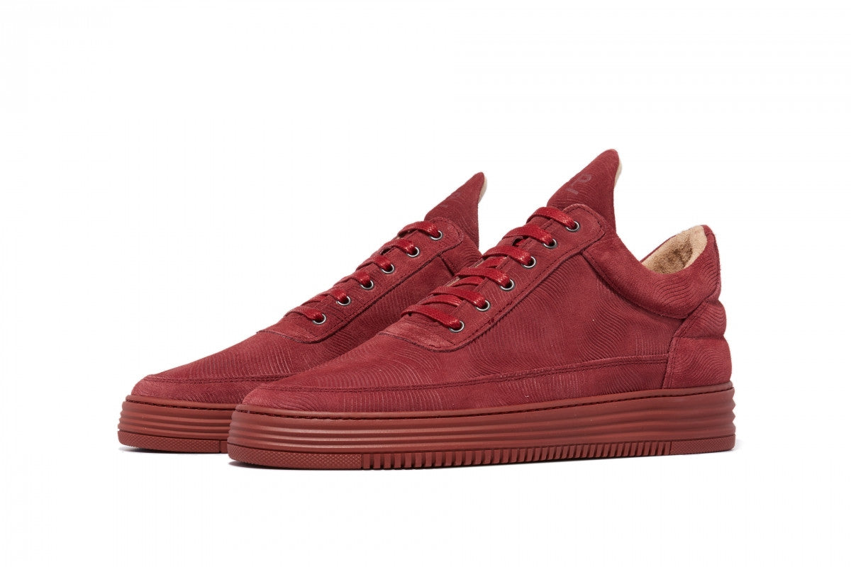 Filling Pieces maroon stripe Low Top