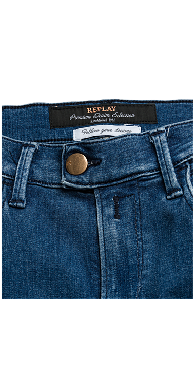 Replay Touch high waist skinny Jeans