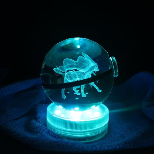 Suicune Glowing Crystal Pokeball