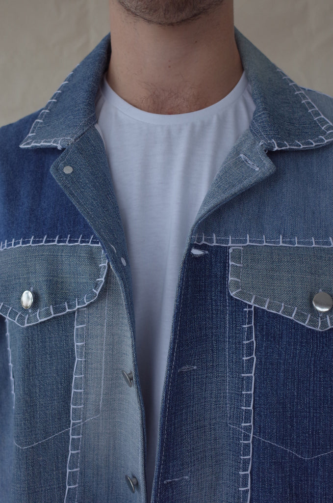 PROCESS: The making of our up-cycled denim jackets