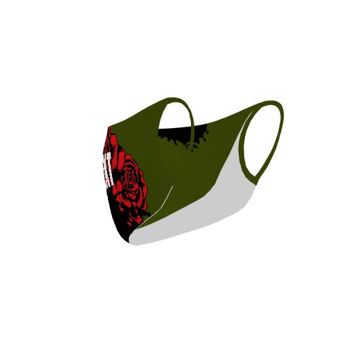 Customizable No Sew Face Cover - Roses
