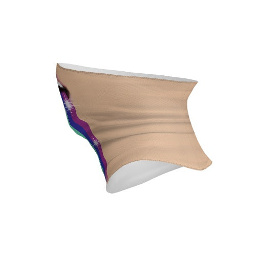 Customizable Neck Gaiter - Rainbow Blast