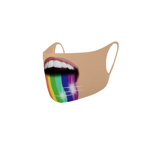 Customizable No Sew Face Cover - Rainbowblast