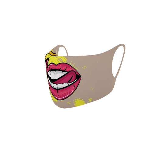 Customizable No Sew Face Cover - Pop Lips