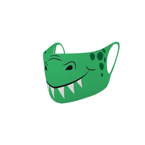 Customizable No Sew Face Cover - Little dinosaur