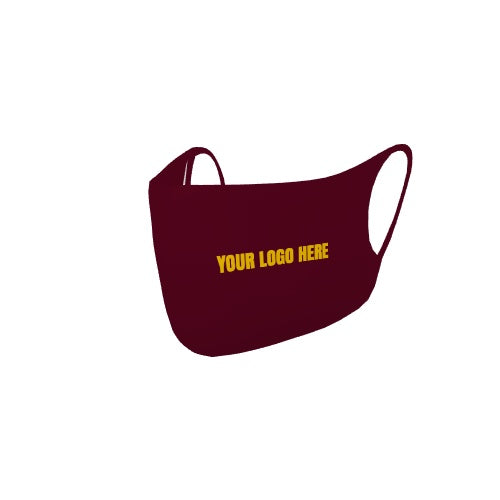 Customizable No Sew Face Cover - logo-blank-Maroon