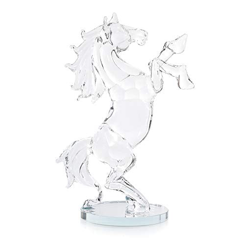 London Boutique Decorative Crystal Animal Horse Ornament Gift Present