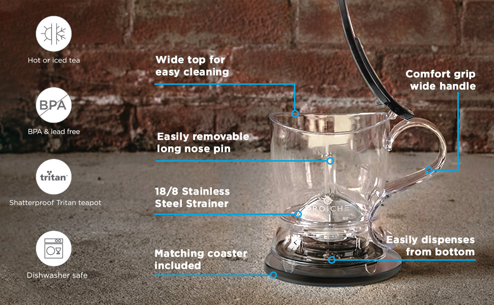 GROSCHE aberdeen black easy tea steeper product features